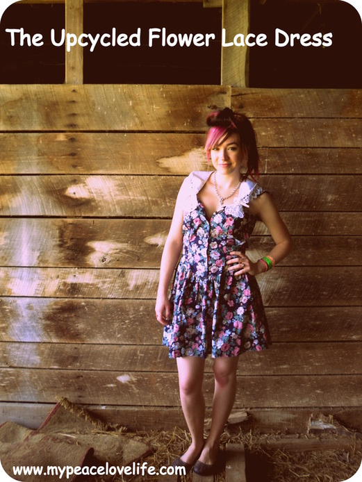 The Upcycled Flower Lace Dress