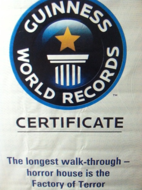 guiness book of world records haunted house
