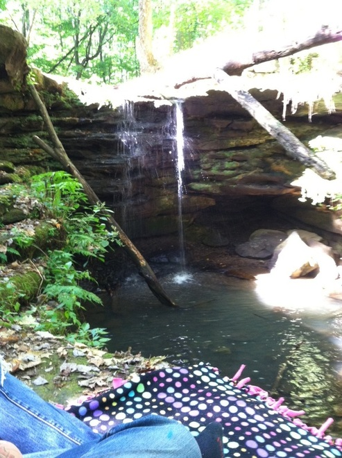 My Fairy Tale Picnic at a Waterfall. By China Barbie.