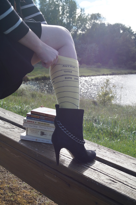 Outfit of the Week; Library Card Socks