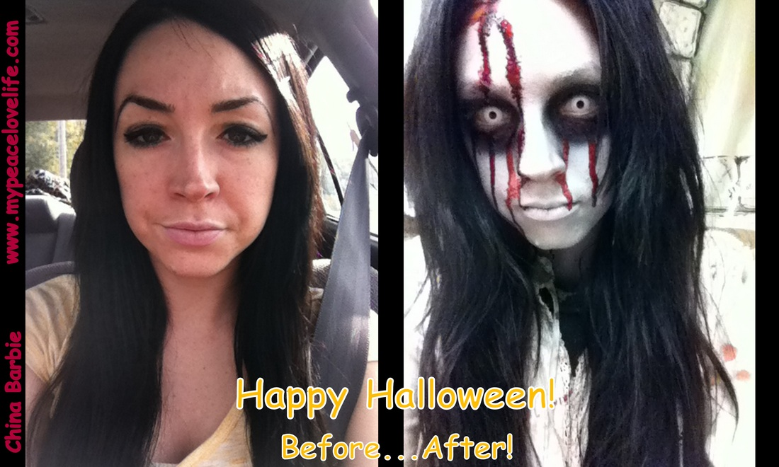 Halloween before and after scary