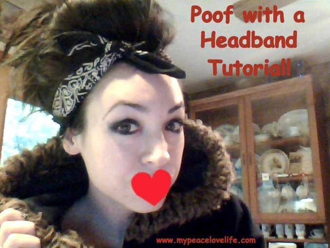 Poof with a Headband Tutorial