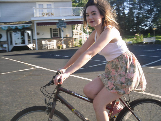 babe on a bike