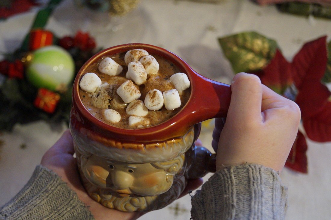 Vegan Christmas Eve Ice Cream Hot Cocoa