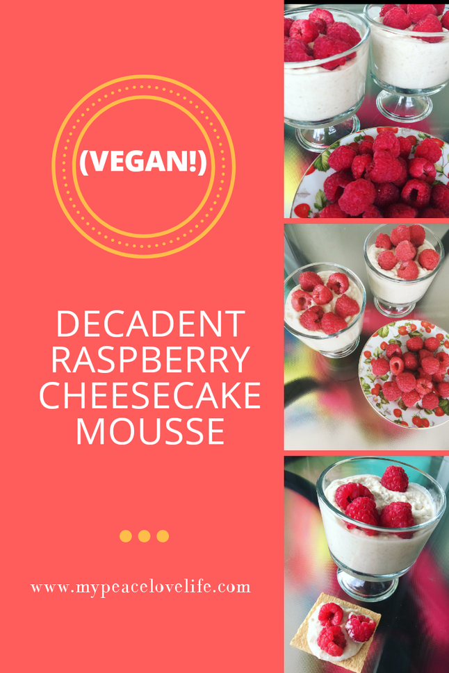 Decadent Raspberry Cheesecake Mousse (Vegan!)